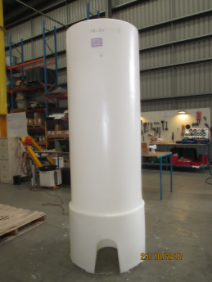 Photo of conical tank on stand