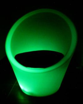 Retro plastic chair green