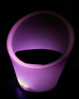 Retro plastic chair purple
