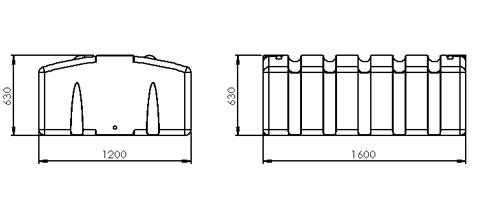 1000L Under Deck Dimensions