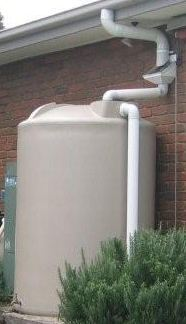 Water tank installation